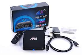 Android TV Box M8,  quad core RAM 2G