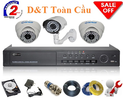 Bộ KIT 6 Camera AHD 1.3M