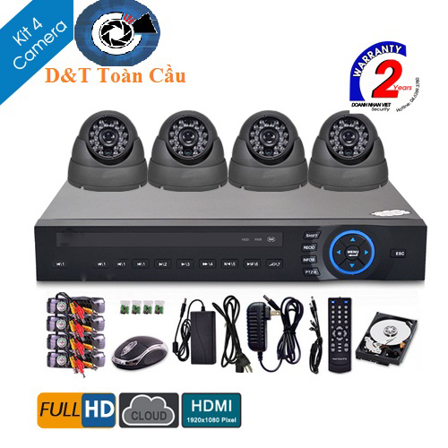 Bộ KIT 4 Camera HDCVI 1080P